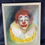 Vintage Circus Clown Painting