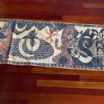 Item 10. Thai Batik, 1950's, handmade, cotton and jute border.