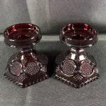 Vintage AVON Ruby Red Candle Holders