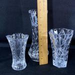Small Crystal Flower Vase Lot