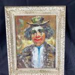 Vintage Circus Clown Painting #2