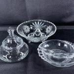 Clear Glass Candy Dish Nut Bowl Lot
