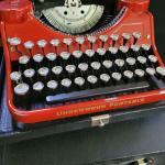 Underwood red 1930s typewriter