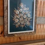 Gorgeous framed genuine pressed dried flower arrangement