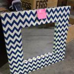 Canvas Covered Mirror -Item #499