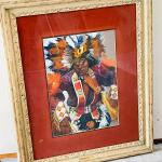 Lot 196  Original Acrylic Painting by Carol Theroux Native American Pow Wow Danc