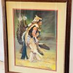 """Lot 193  Original Pastel Painting by Carol Theroux """"Coyote Dancer"""""""