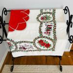 Lot 181  Vintage Printed Cotton Christmas Table Cloth
