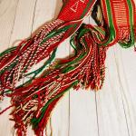 Lot 191  Vintage Man's Finger Woven Wool Belts Long Fringe Native American