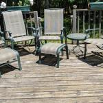 Set of patio furniture, addnl 2 chairs and table not in picture