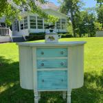 Mahogany Martha Washington Sewing 3 Drawer 2 Sides Stand Cabinet! 973-600-3177