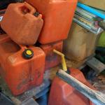 Set of gas containers