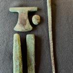 Item 20. Pre-Colombian Incan tools, iron, copper alloy, Moche (Mochica) period.