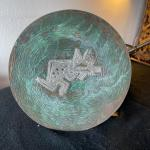 Item 24. Copper platter with Sterling Silver jaguar motif appliqué, 1960s, coun
