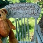 Vintage Victorian children's oak high chair ! 973-600-3177