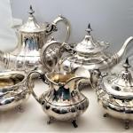 "Lot #208  Fantastic Reed and Barton 5-piece Sterling Silver Tea Set ""Hampton Cou"