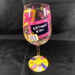 "Lolita® ""Birthday Girl"" Decorative Wine Glass"