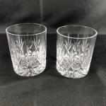 Set of 2 Matching Crystal Rocks Drink Glasses