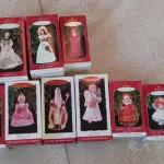 #176 ( 11) Vintage Hallmark Ornaments Gown W The Wind &,More