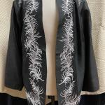 Nolan Miller QVC Black Evening Jacket White Feather Embroidery Size 1X NWT