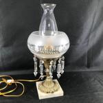 Ornate Crystal Pedestal Lamp