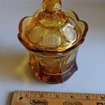 Amber glass decanter