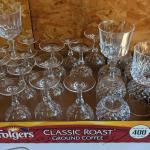 Set of lead crystal glasses