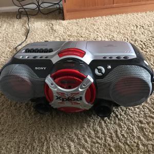 Photo of Sony Xplod Mega Bass CFD-G505 CD AM FM Radio Cassette Recorder Boombox