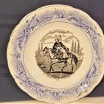 """Lot #242  Charming Antique French Plate """"The Lady Farmer"""""""