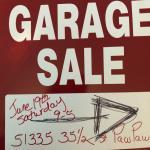 Garage sale June 19 only