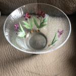 Crackled  glass bowl 10 inches diameter.