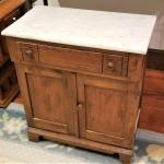 Lot #249  Antique Washstand/Commode with Marble top