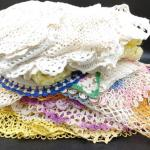 #192 (46)Vintage Hand Made Colorful Doilies