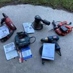 Assortment of 5 Working Power Tools