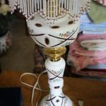 BOHEMIAN OVERLAY CZECH MOSER CUT TO CRANBERRY LAMP #55 LOCAL PICKUP ONLY