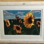 Don Clabaugh Sunflowers #1 Signed Lithograph. Local pick up only in Auburn, CA.