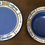 Ceramic Bowl & Platter With Fish Motif. Local pick up only in Auburn, CA.