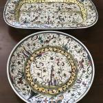 Large Bowl & Tray Hand Painted In Portugal. Local pick up only in Auburn, CA.