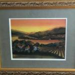 Framed Watercolor By Jessie Miller. Local pick up only in Auburn, CA.