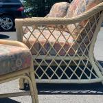 6 piece RATTAN SET with retro cushions from Brazil, LIKE NEW!!