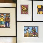 Philip Kuznicki Four Signed & Framed Lithographs. Local pick up only in Auburn,