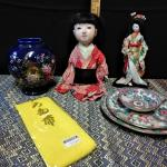 LOT 292 ANTIQUE DOLL & ASIAN ITEMS