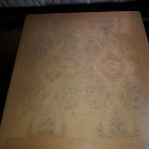 Photo of Blond end tables