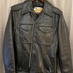 Vintage Black Leather Jacket by Schott Bros