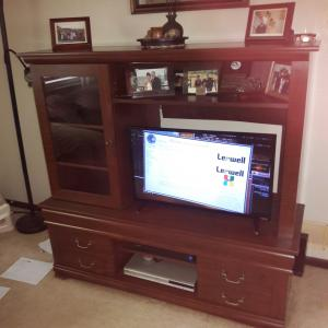 Photo of Sauder tv and dvr stand.