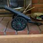 Small Iron Replica Cannon