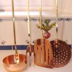 #202 Vintage Solid Copper & Brass Utensils Set