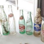#204 (7) Vintage Soda Bottles