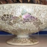 #203 Beautiful Sparkling Mosaic Pedestal Bowl