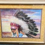 "Lot 1  Original Pastel Painting by Carol Theroux ""Morning Prayer"" Native America"